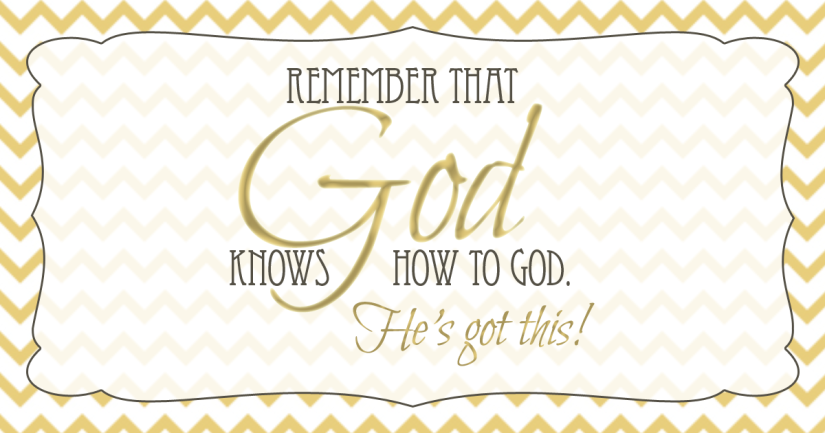 God knows how to God