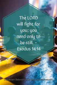 The LORD will fight for you.